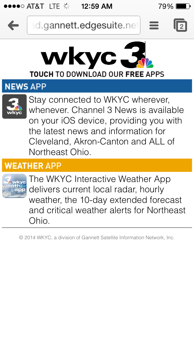 WKYC Apps Download Landing (Winter 2014)