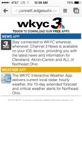 WKYC Apps Download Landing (Winter 2014)